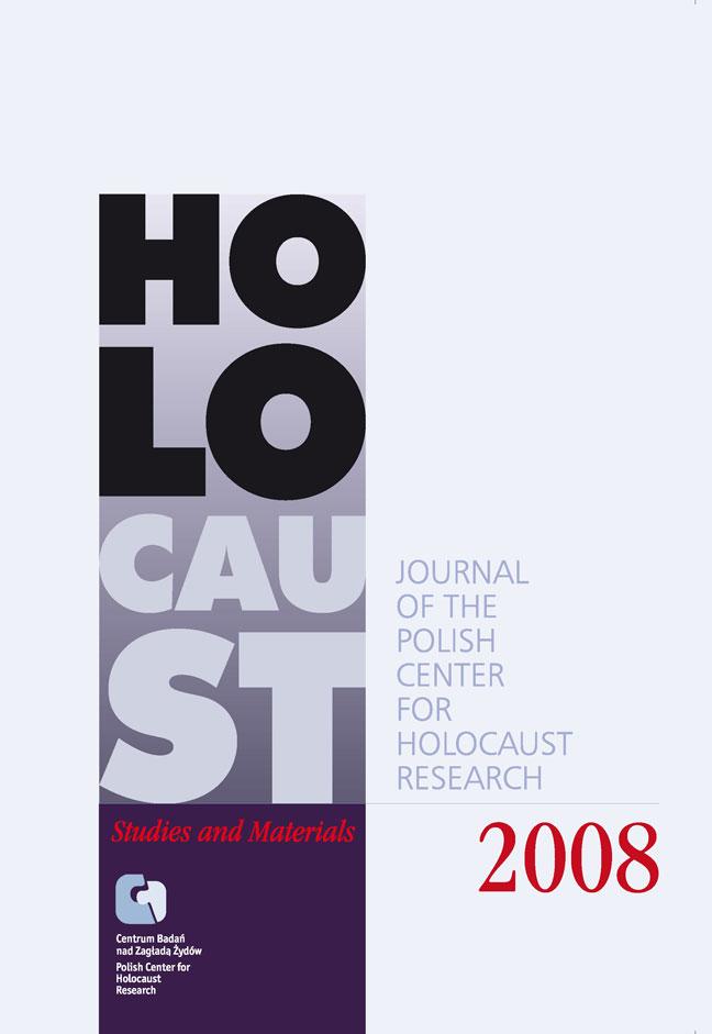 Wyświetl 2008: Holocaust Studies and Materials